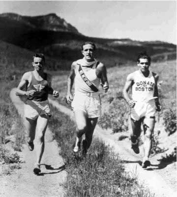 Darrah (center) and Donato (right) competing at the Vertical Mile in Colorado