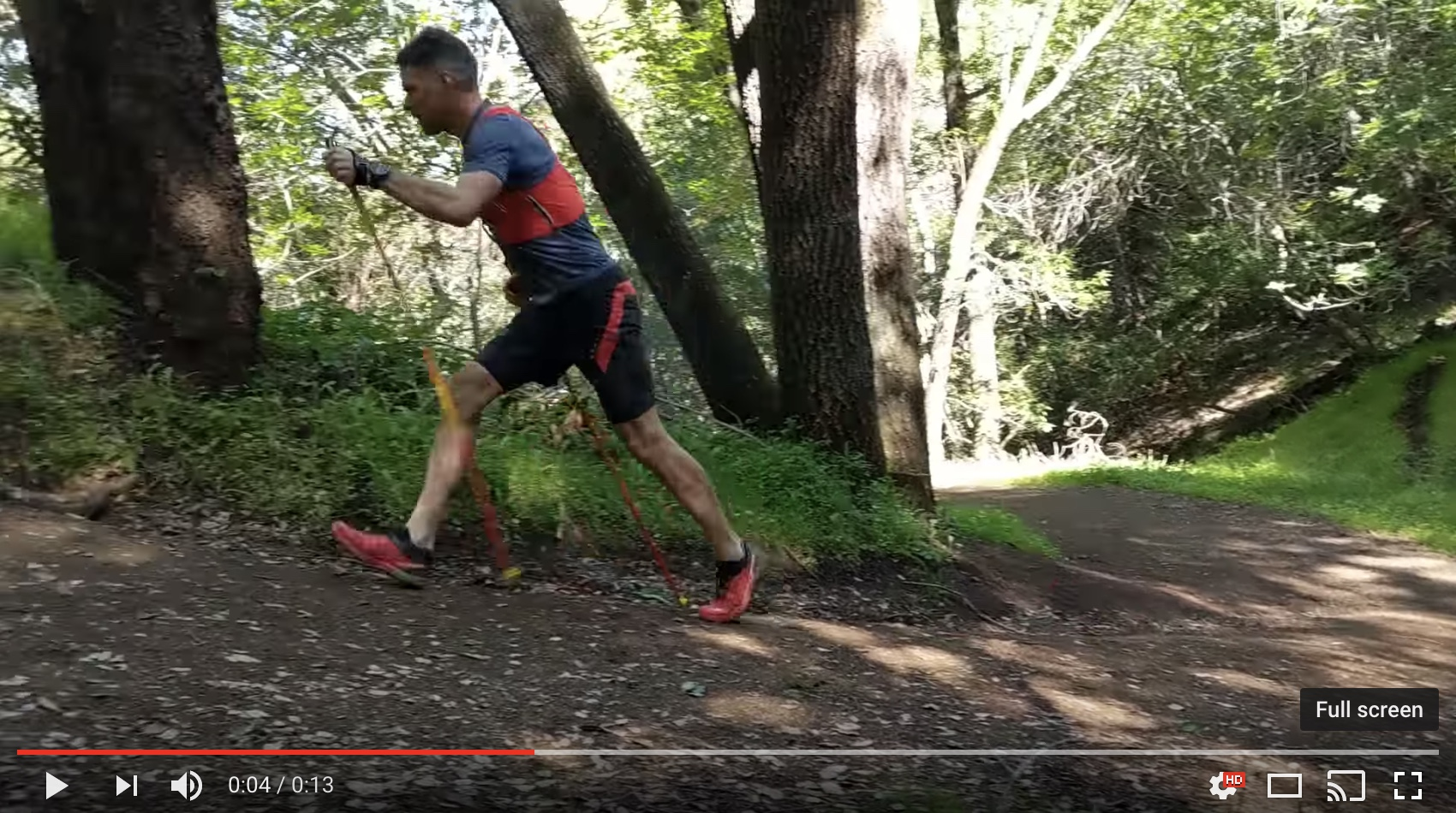 Using poles for a more efficient trail